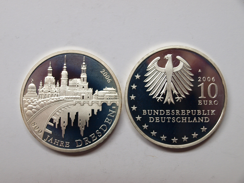 Deutschland 2006 10 Euro 800 Jahre Dresden Spiegelglanz Pp Aix
