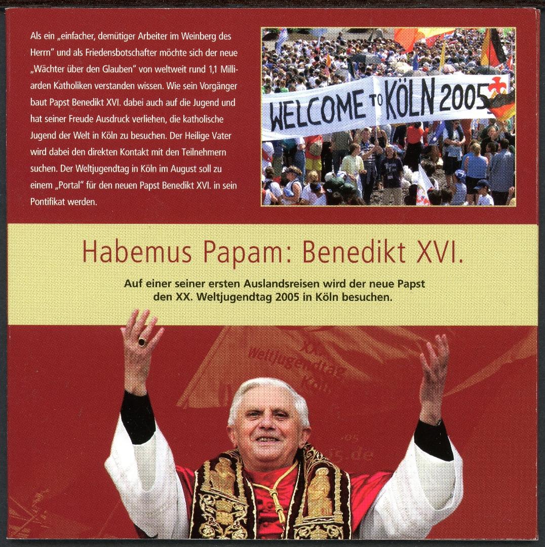 2005 2 Silbermedaillen Papst Johannes Paul Ii Benedikt Xvi Im
