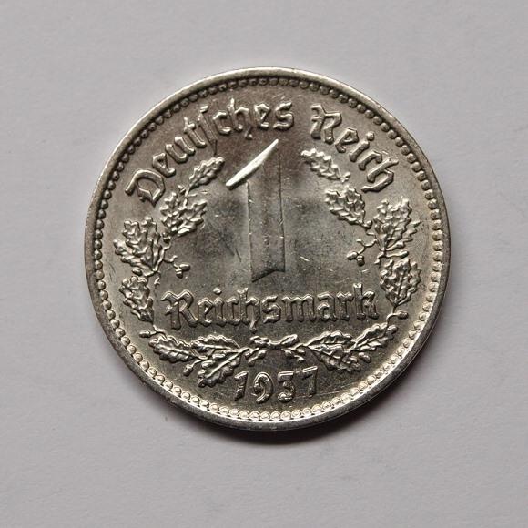 Deutsches Reich 1937 F 1 Reichsmark Vz Aix Phila Shop