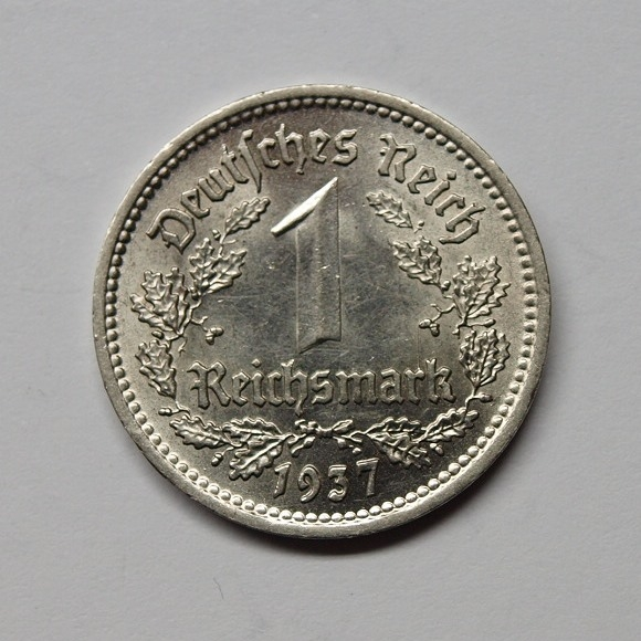 Deutsches Reich 1937 J 1 Reichsmark St Aix Phila Shop