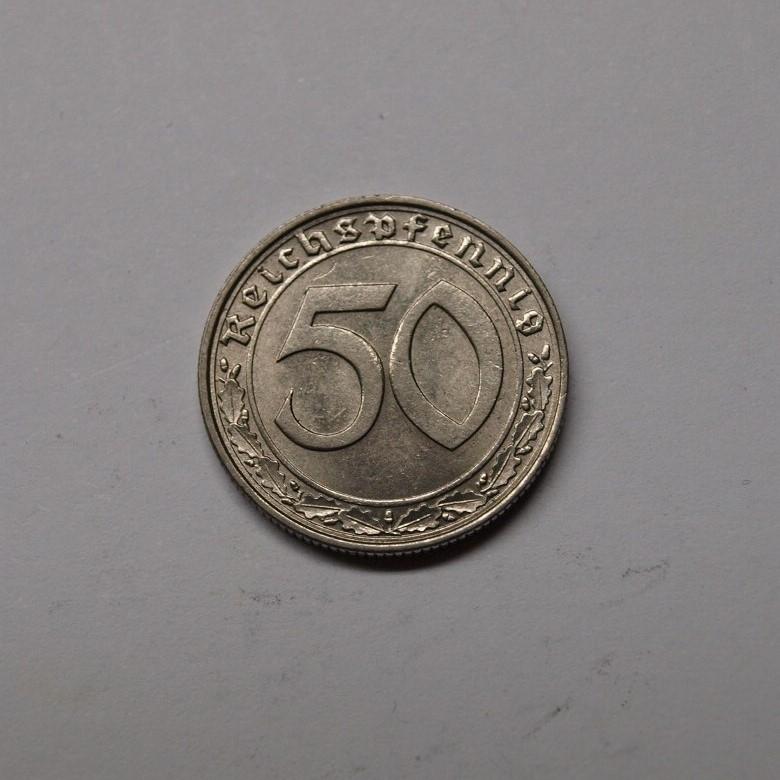 Deutsches Reich 1939 J 50 Reichspfennig Ss Vz Aix Phila Shop