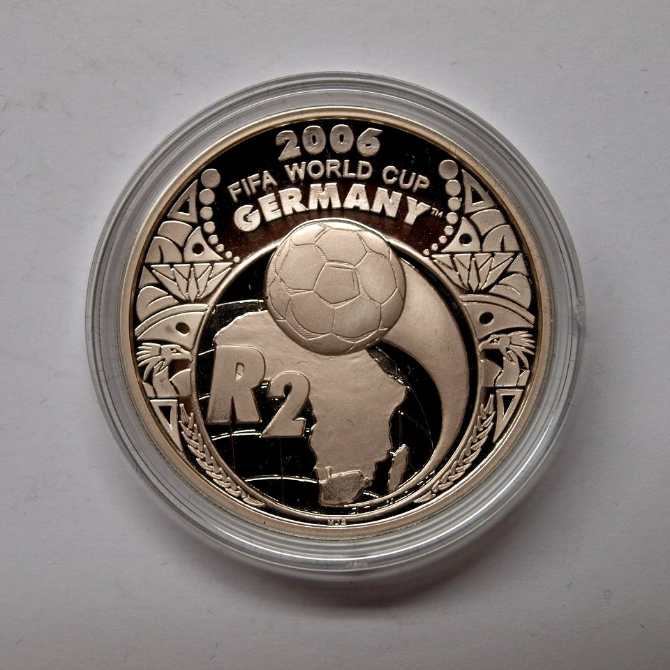 Vietnam 2005 2 Rand Fussball Wm 2006 925er Silber Pp Aix