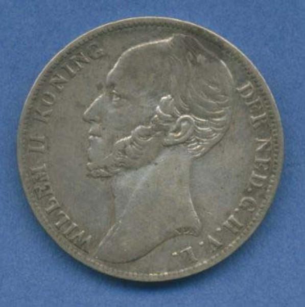 Folkloreschmuck Niederlande Wilhelm Ii 1 Gulden 1848
