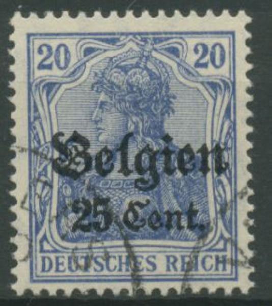 Landespost In Belgien 18 B Gestempelt Marke Des Deutschen Reiches