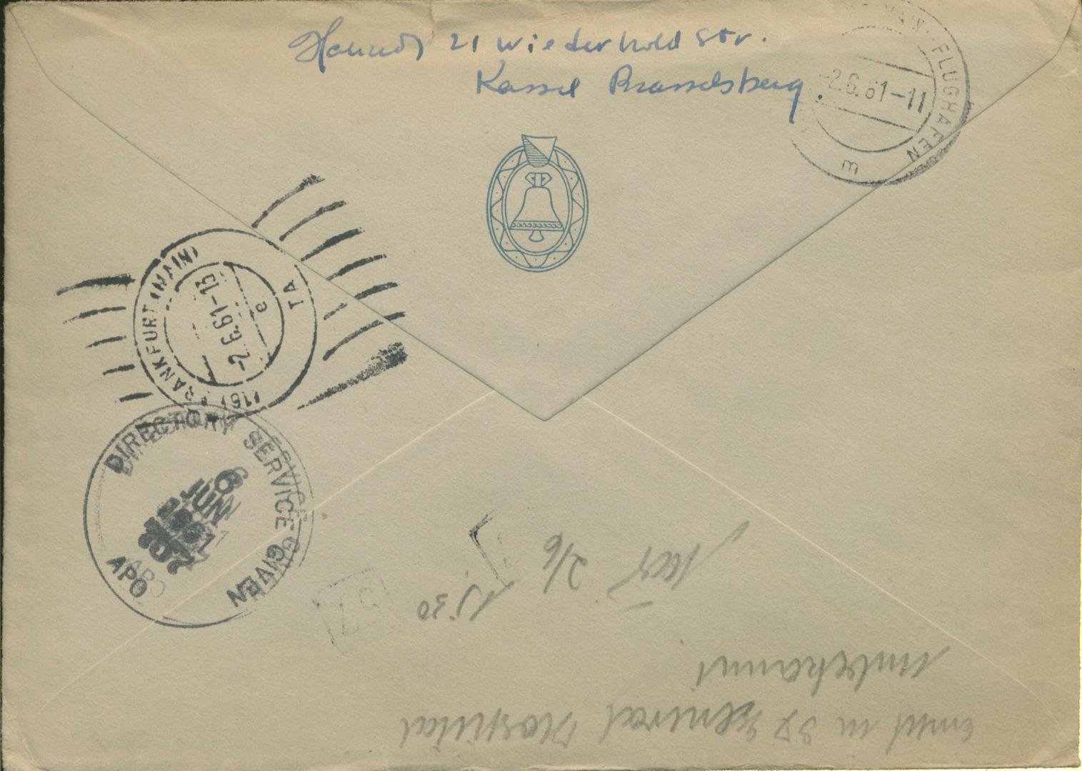 Schweiz 1961 Unzustellbarer Express Brief Nach Deutschland G5745