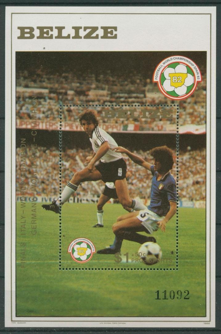 Belize 1982 Fußball Wm Spanien Block 55 Postfrisch C22516