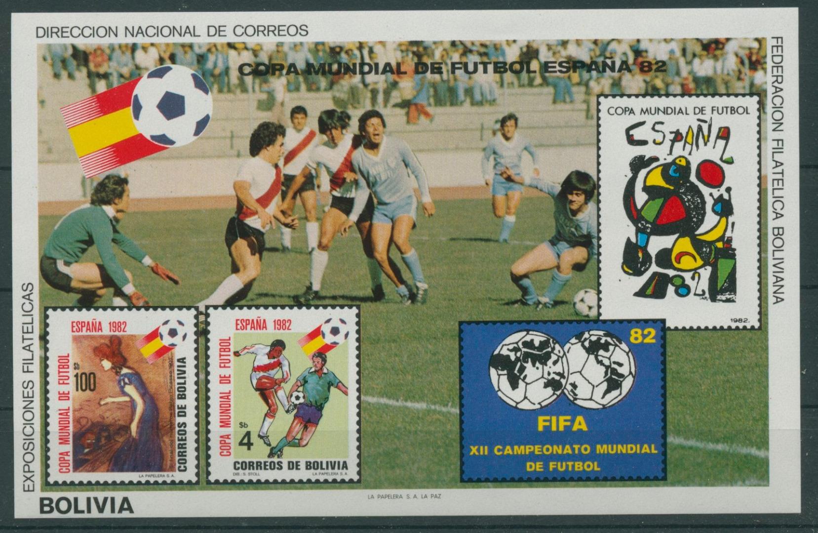 Bolivien 1982 Fußball Wm Spanien Block 124 Postfrisch C22863
