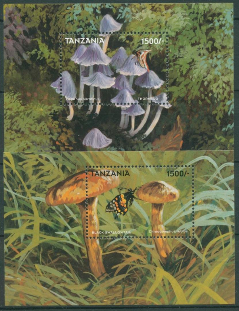 Tansania 1998 Pilze und Insekten Block 414/15 postfrisch (C23644) - Kassel, Deutschland - Tansania 1998 Pilze und Insekten Block 414/15 postfrisch (C23644) - Kassel, Deutschland