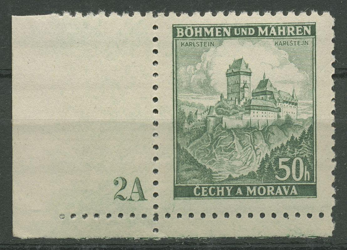 Böhmen & Mähren 1939 Ecke m. Plattennummer 50er-Bogen 26 Pl.-Nr. 2A postfrisch - Kassel, Deutschland - Böhmen & Mähren 1939 Ecke m. Plattennummer 50er-Bogen 26 Pl.-Nr. 2A postfrisch - Kassel, Deutschland