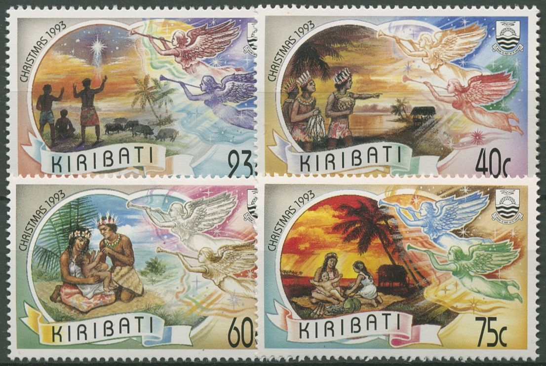 Kiribati 1993 Weihnachten: Hirten, Heilige Drei Könige 655/58 ...