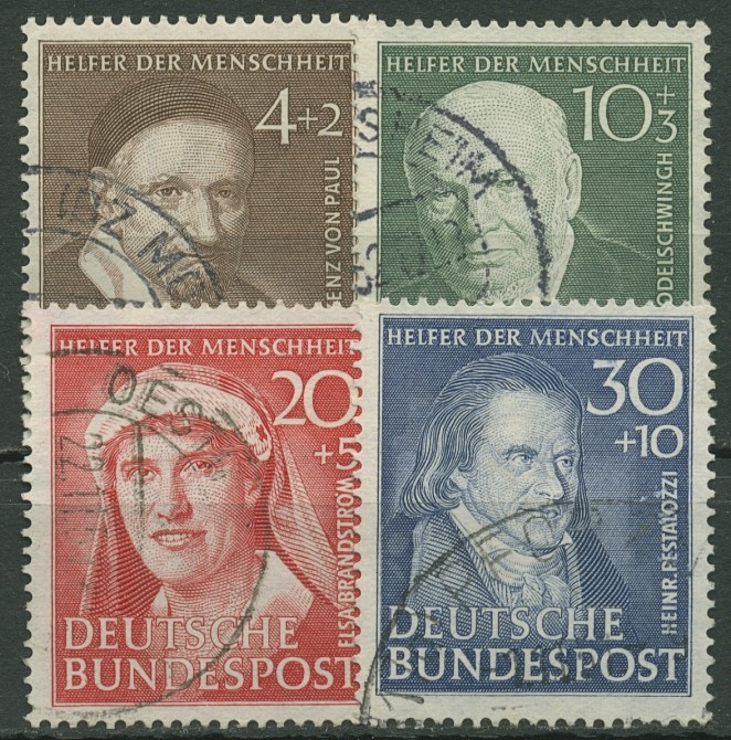 Bund 1951 Wohlfahrt Helfer Der Menschheit 14346 Gestempelt