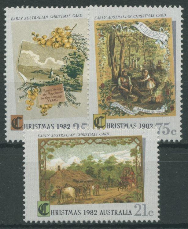 Australien 1982 Weihnachten Alte Weihnachtskarten 802/04 postfrisch ...