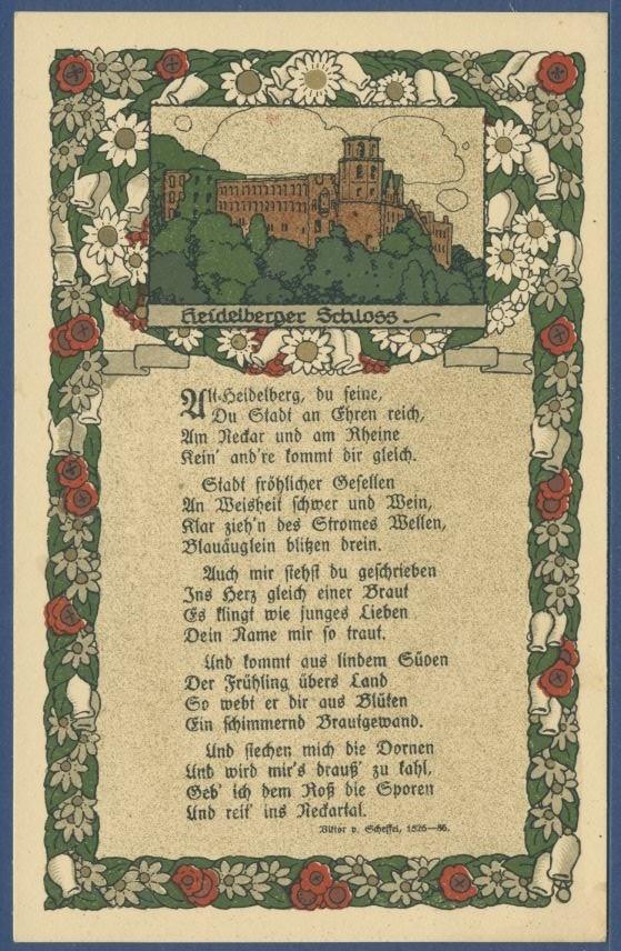 Heidelberger Schloß Gedicht Von Viktor V Scheffel