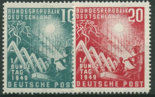 Bund 1949 1959 Briefmarken Dr Rohde Kornatz Kassel