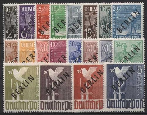 Berlin 1948 1959 Briefmarken Dr Rohde Kornatz Kassel