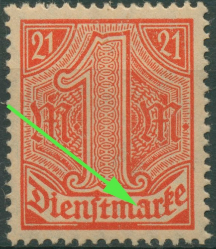 deutsches reich dienstmarken briefmarken dr rohde. Black Bedroom Furniture Sets. Home Design Ideas