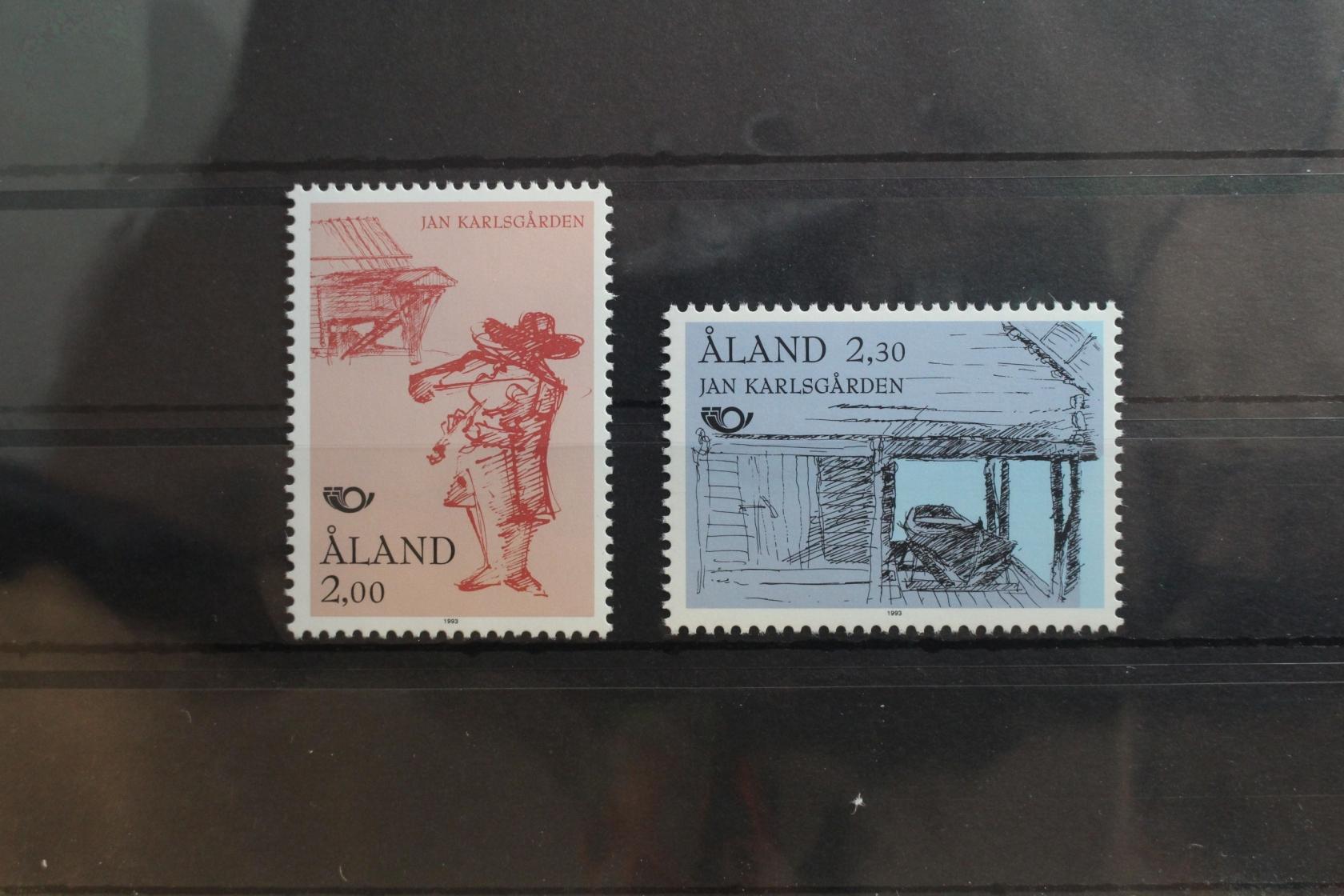 Postfrisch Jahresmappe 1992 Aland Briefmarken
