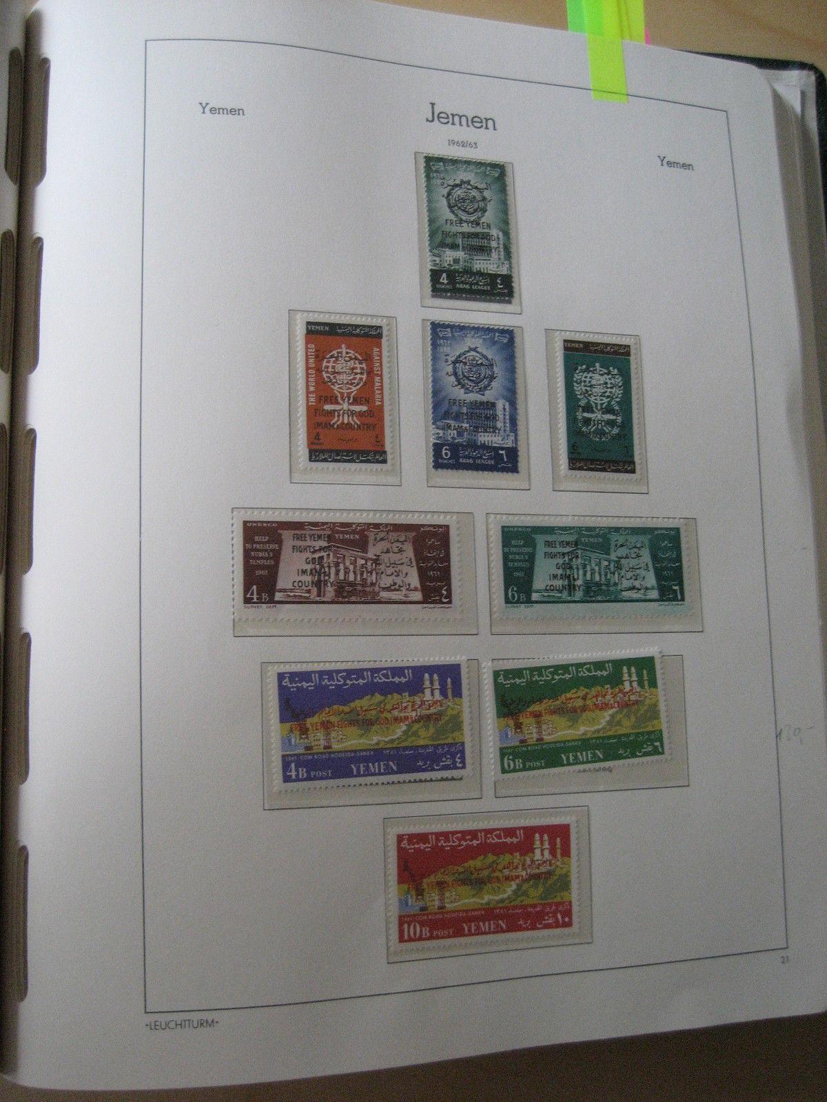 Jemen postfrische Top Sammlung in Vordruck (2546)