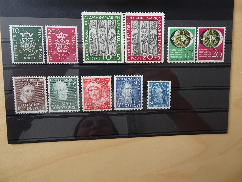 Bund Jahrgang 19501951 Ohne Posthorn Komplett Briefmarken Schumann