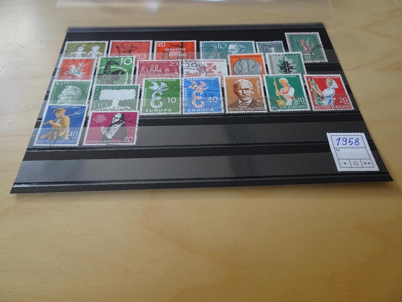 Bund Jahrgang 1958 Gestempelt Komplett Briefmarken Schumann