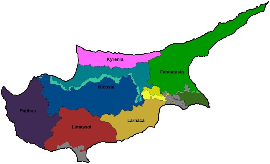 Cyprus district map Smartexpat