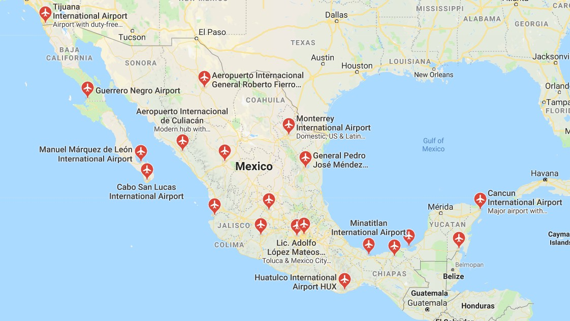 Airlines Airports In Mexico Smartexpat