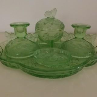 vintage green glass dressing t..., Pays de la Loire Everyday ...