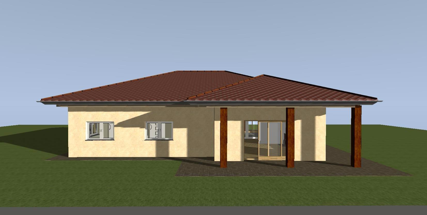 Costruzione edificio mono piano con tetto in legno mq ...