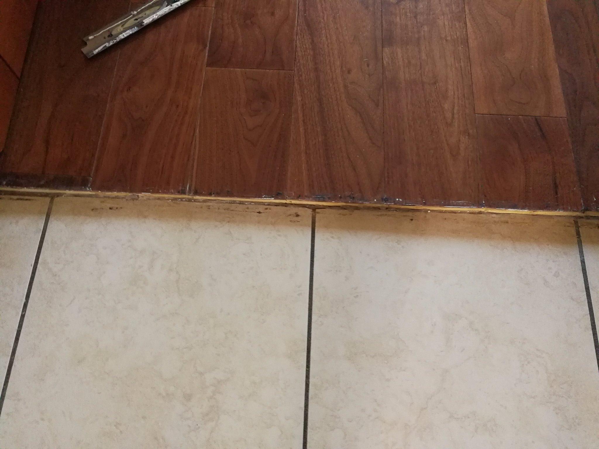 Zoccolino tra una pavimentazione e l altra e crepe piastrelle