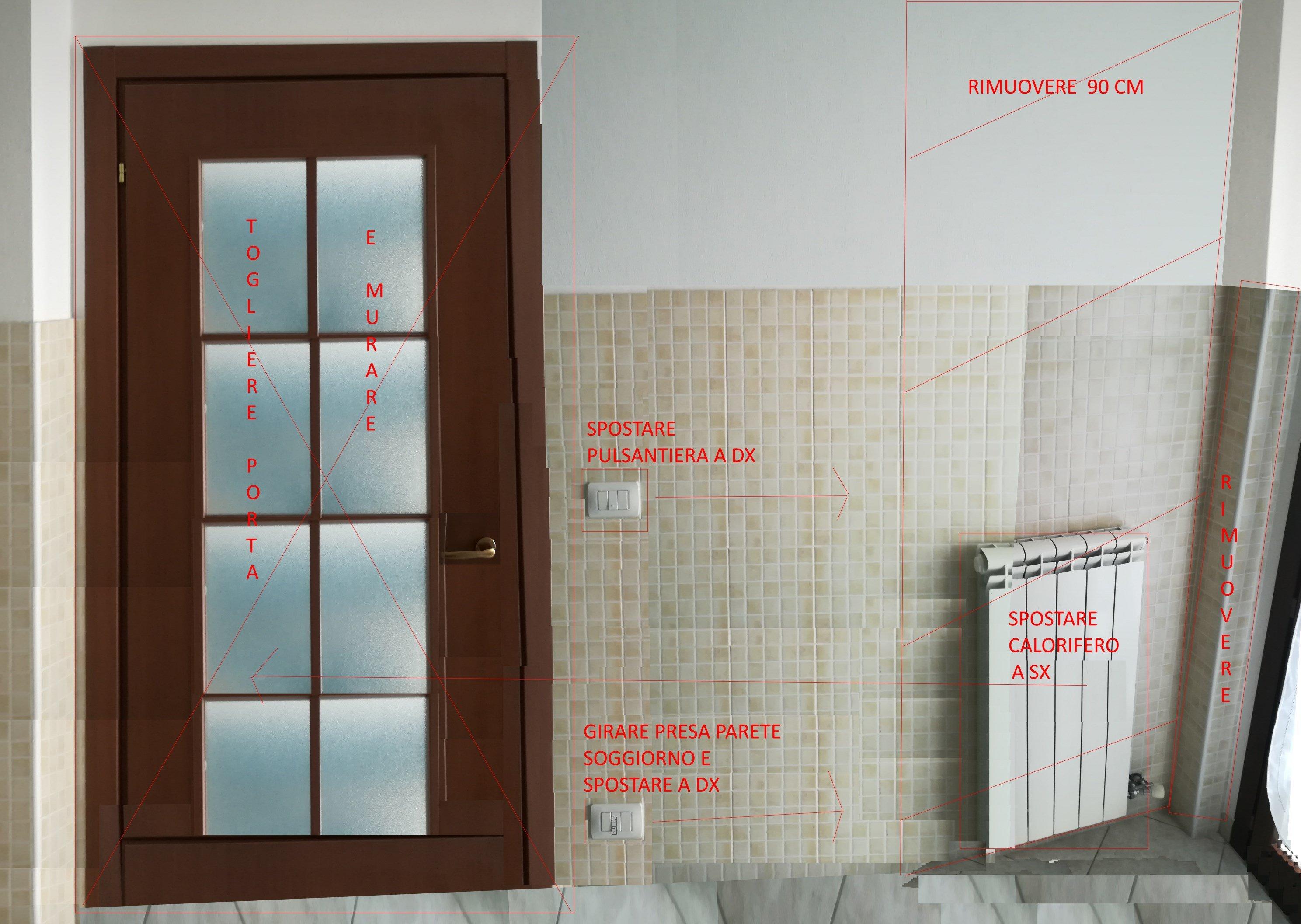 Ristrutturazione casa: LAVORO PARETE DIVISORIA SOGGIORNO ...