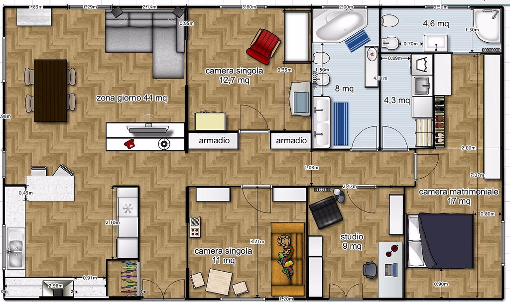 Demolizione casa su due piani e costruzione nuovo di 120mq for 2 br 2 piani casa bagno