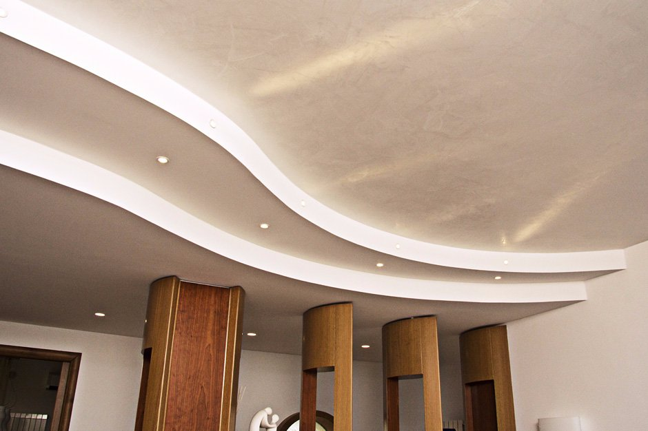 Soffitto in cartongesso con faretti instapro for Cartongesso controsoffitto