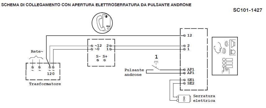 Schema Elettrico Per Citofono : Ripristino citofono due fili urmet monofamiliare