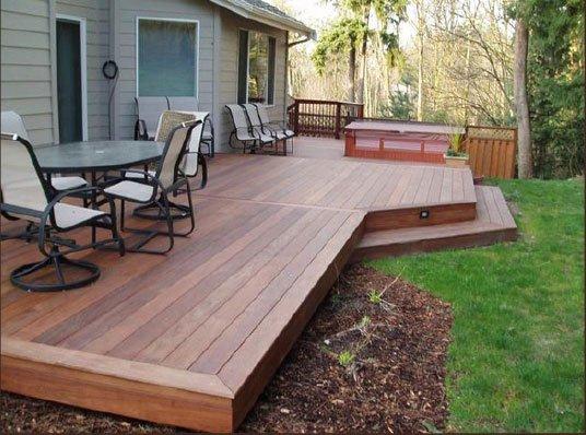 Pavimentazione Da Giardino In Legno : Pavimentazione esterno legno su struttura flottante 6 metri per 4