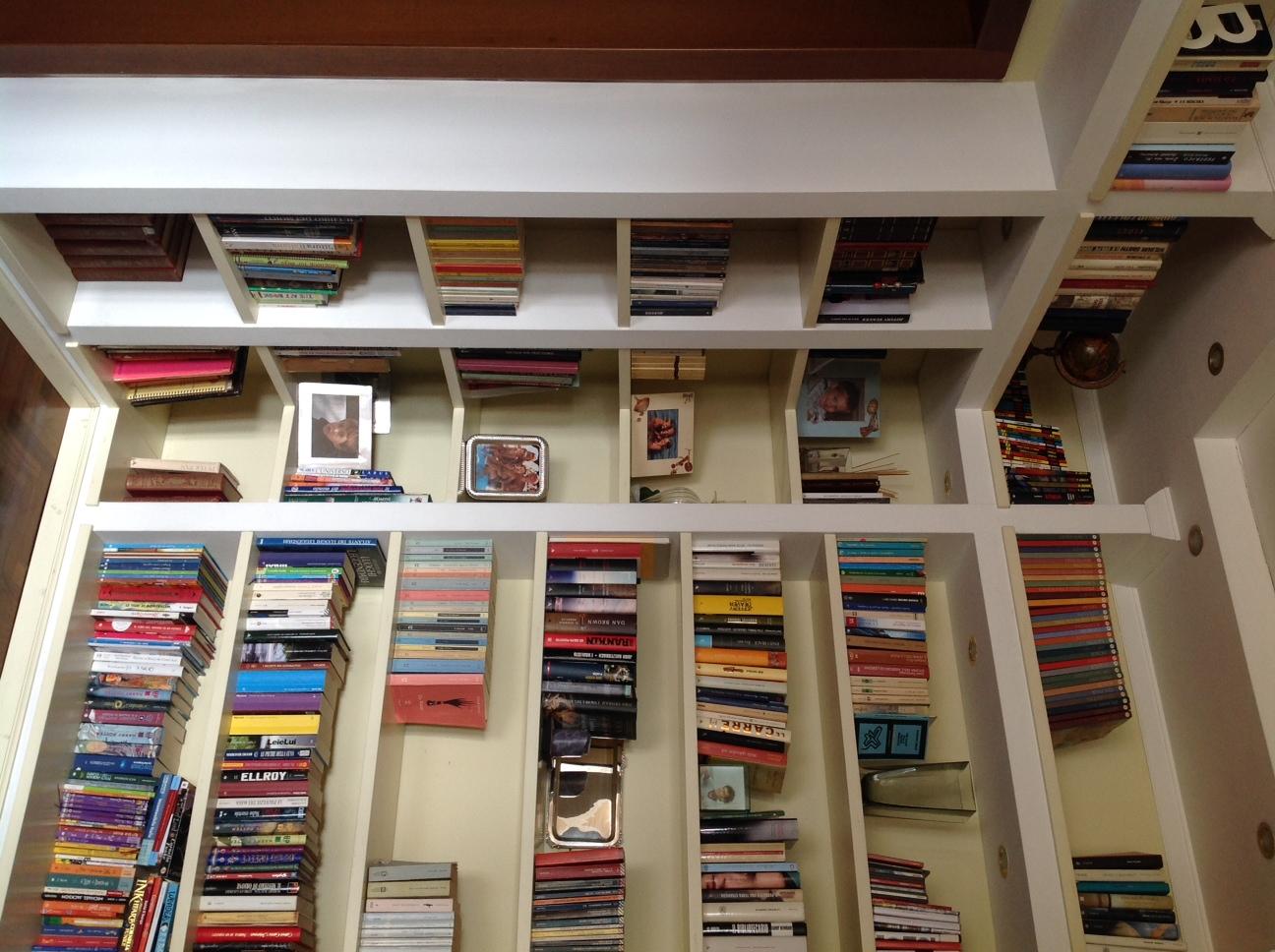 Realizzazione piccola libreria con mobile in cartongesso instapro - Parete mobile in cartongesso ...