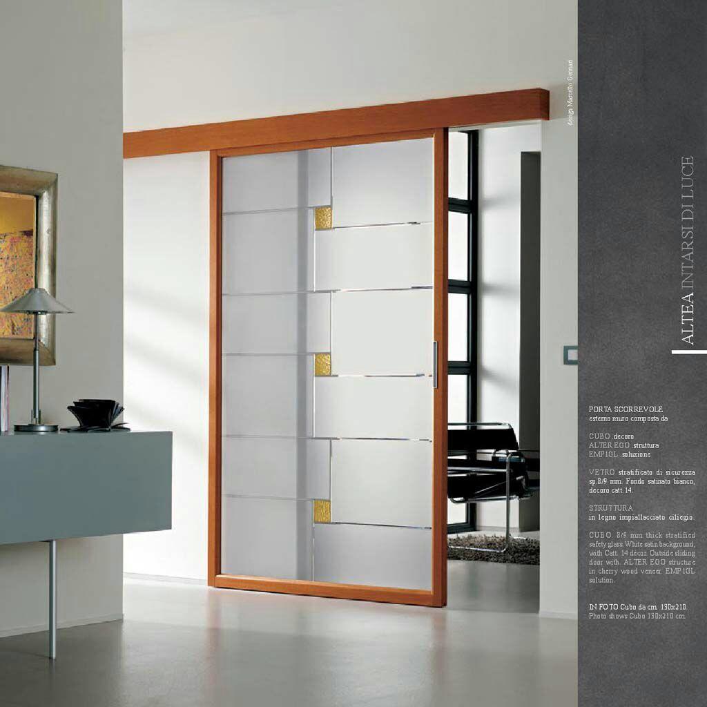 Fornitura e posa porta scorrevole in vetro legno 140cm x 210cm instapro - Aprire finestra muro esterno ...