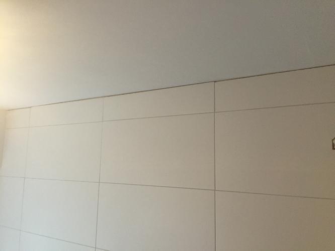 Badkamer kitten vierkante meter met douchecel vloer wanden en