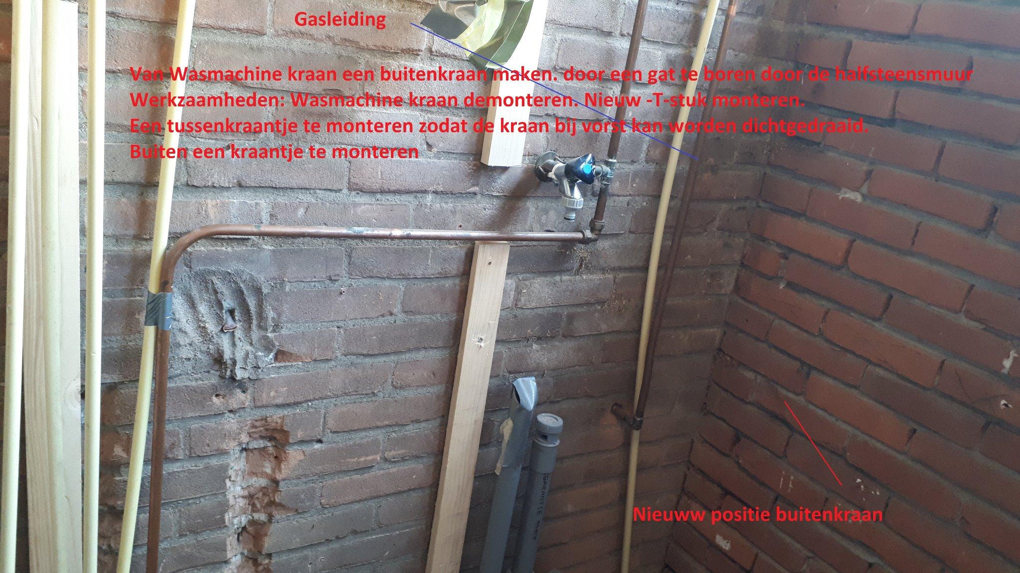 Top Verplaatsen radiator en Buitenkraan maken - Werkspot UI14