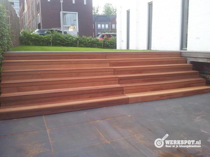 Houten Trap Ideeen : Tuin met trap: aanleg trap in tuin overbrug hoogteverschillen.