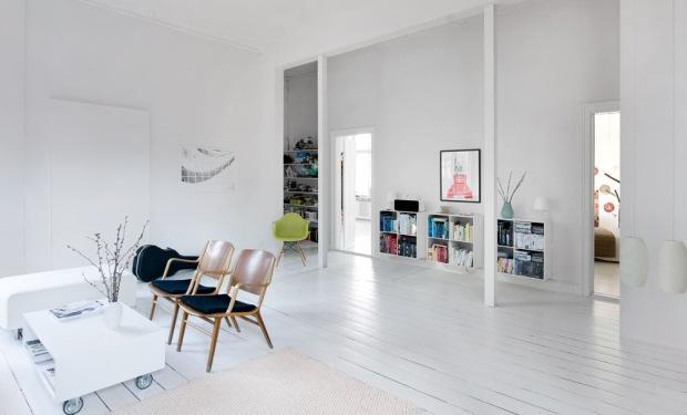 Grenen vloer leggen en wit verven werkspot for Witte vloer