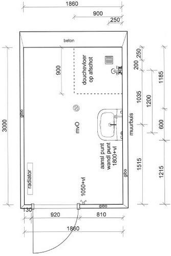 nieuwbouw casco woning toilet, badkamer en keuken - werkspot, Badkamer
