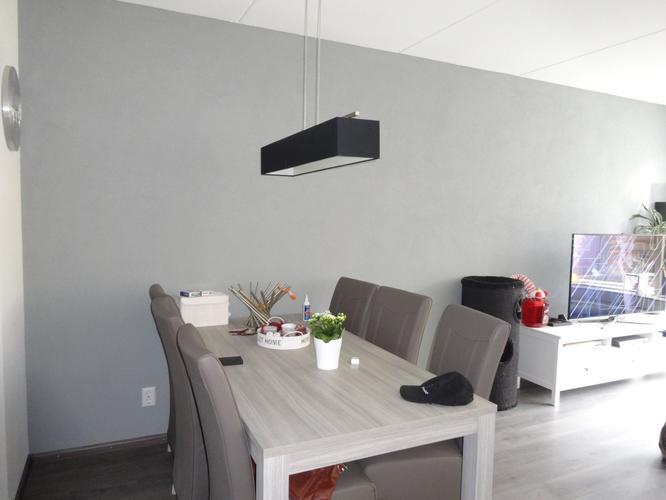 Grijze spachtelputz muur verven naar lichtbruin 5,65 x 2,65 - Werkspot
