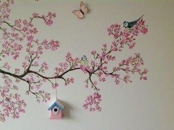 Muurschildering babykamer werkspot - Grijs muurschildering ...