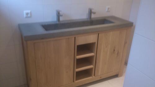Badkamermeubel Zonder Wasbak : Badkamermeubel maken van eiken eventueel inclusief wasbak werkspot