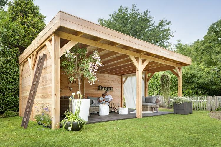Serre bouwen van hout