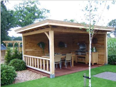 Tuinhuis veranda en vlonder terras werkspot - Ontwerp tuinhuis ...