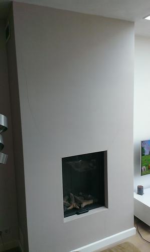 Renovlies behang aanbrengen op schouw gashaard werkspot for Renovlies behang aanbrengen