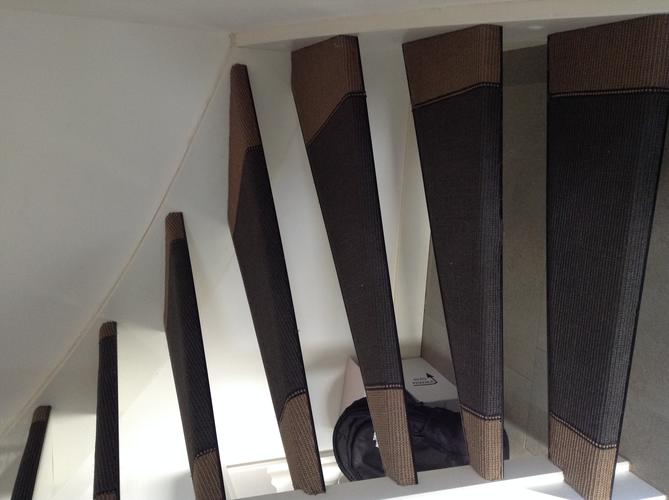 Open traptreden dicht maken en bekleden werkspot for Traptreden opmeten