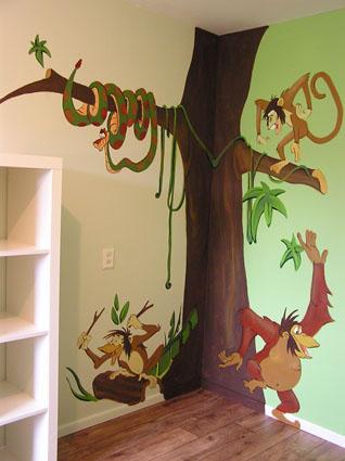 Muurschildering 2 Kinderkamer Werkspot