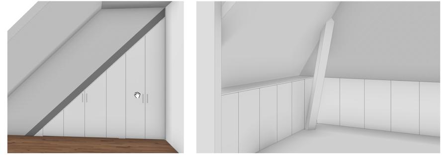 Kasten op maat, hangkasten onder schuine wanden/dak (jaren 30 huis ...